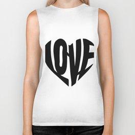 LOVE heart Biker Tank