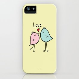 Chirp & Whistle Love Birds iPhone Case
