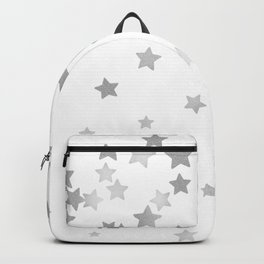 Falling Stars - Silver Marble Backpack