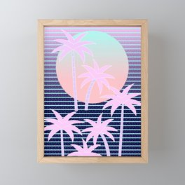 Hello Miami Moonlight Framed Mini Art Print