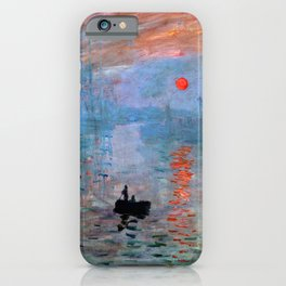 Iconic Claude Monet Impression, Sunrise iPhone Case