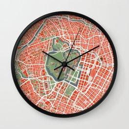 Tokyo city map classic Wall Clock