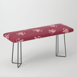 Crazy Happy Uterus in Red, Large Bench