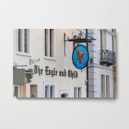 Eagle and Child Pub Oxford England Metal Print
