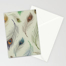 Peacock feather design Stationery Cards