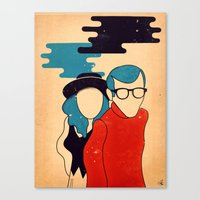 annie hall Canvas Prints featuring Annie Hall by Roland Lefox
