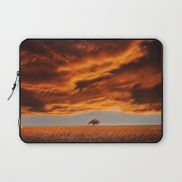 Rhode Island Tree and Timothy and Alfalfa Field Landscape Painting by Jeanpaul Ferro Laptop Sleeve