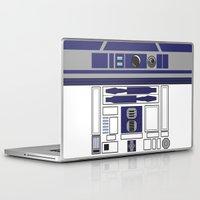 starwars Laptop & iPad Skins featuring R2D2 - Starwars by Alex Patterson AKA frigopie76