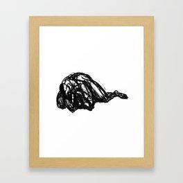 Boceto gestual 2 Framed Art Print