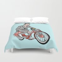 pee wee Duvet Covers featuring Pee Wee Herman by Michael Scarano