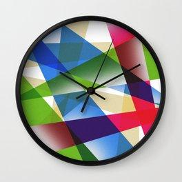 Geometric Fractal Prism Wall Clock