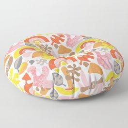 Mid Century Papercut Shapes Floor Pillow