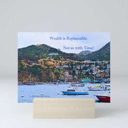 """""""Catalina Harbor""""/ """"Time"""" Mini Art Print"""