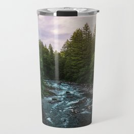 PNW River Run II - Pacific Northwest Nature Photography Travel Mug