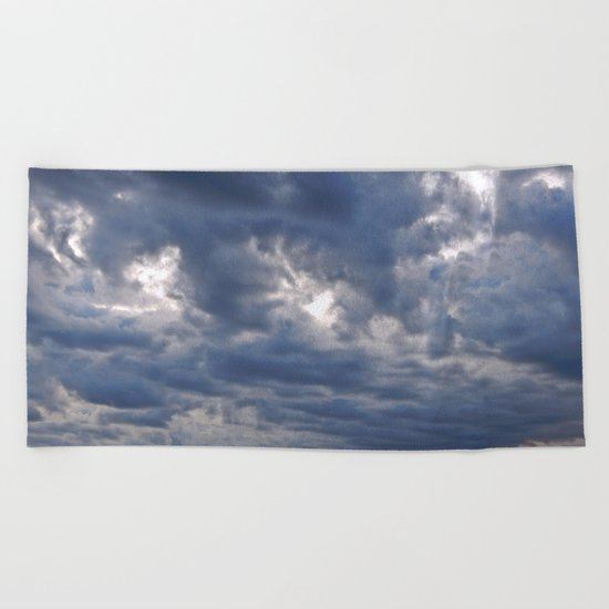 Dramatic Skies Over the Sea Beach Towel