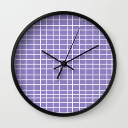 Squares of Lavender Wall Clock
