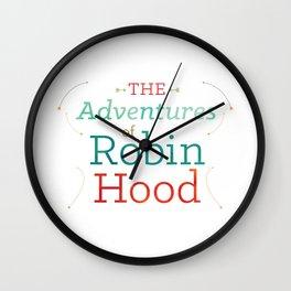 The Adventures of Robin Hood · Illustration Title Wall Clock