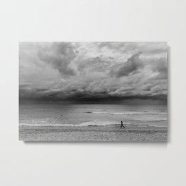 Jogger on Beach Metal Print