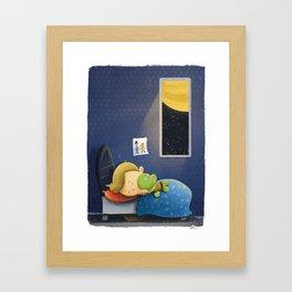 Cuddly Captain Kirk Framed Art Print