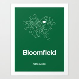 Pittsburgh Bloomfield Art Print