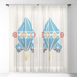Spacecraft Sheer Curtain