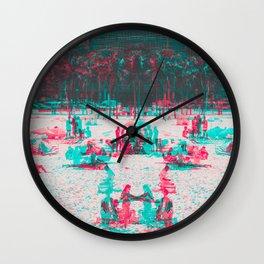 Arpoador Anaglyph Wall Clock