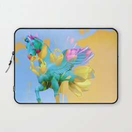 The Fly of Angelic Flowers - Digital Mixed Fine Art Laptop Sleeve