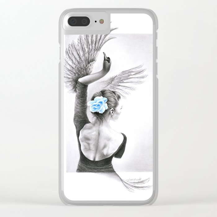 The Swan Clear iPhone Case