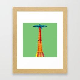 Parachute Jump Framed Art Print