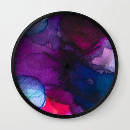 Color layers 5 Wall Clock