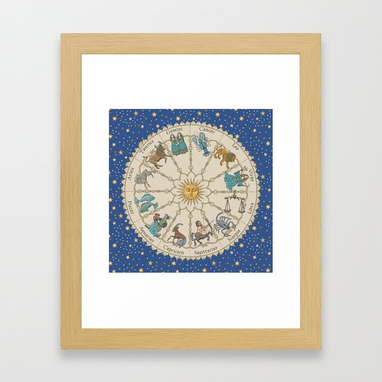 Vintage Astrology Zodiac Wheel by undaunted_design