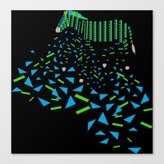 Geometric Zebra Canvas Print