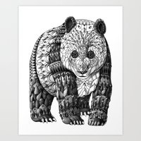 panda Art Prints featuring Panda by BIOWORKZ