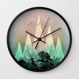 TREES under MAGIC MOUNTAINS IV Wall Clock