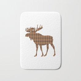 Plaid Moose: Brown Bath Mat