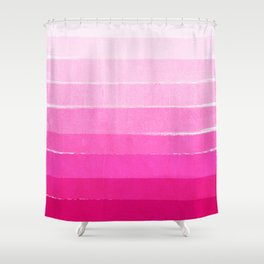Luca - Ombre Brushstroke, pink girly trend art print and phone case for young trendy girls Shower Curtain