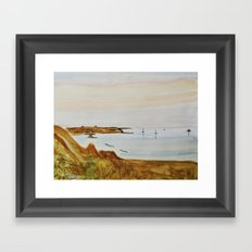 Lampaul summer North Brittany Framed Art Print