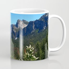 Bridal Veil Falls From Tunnel View Point - Yosemite Valley Coffee Mug