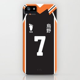 #7 Hisashi Kinoshita Karasuno High School Team Uniform Jersey iPhone Case