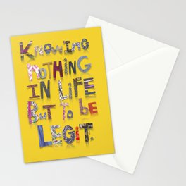 legit yellow Stationery Cards