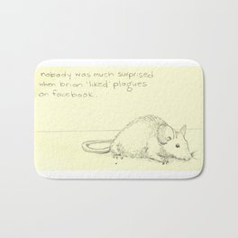 Rat Facebook Bath Mat