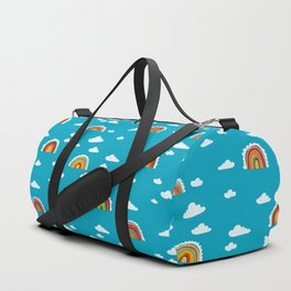 Rainbow Cloud Pattern by Robayre Duffle Bag