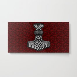 Thors Hammer Mjölnir Viking Design Metal Print
