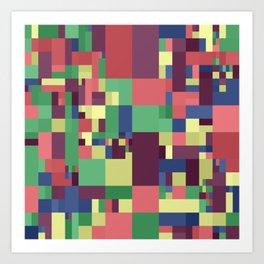 mosaic art Art Print