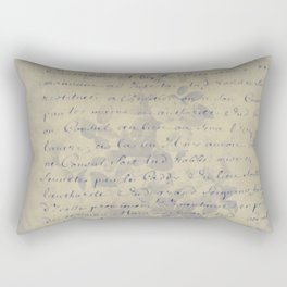 Aged Floral Letter Rectangular Pillow