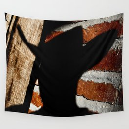 Shadowman on Brick Wall Tapestry