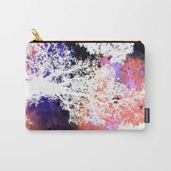 White Trees Colorful Space Carry-All Pouch