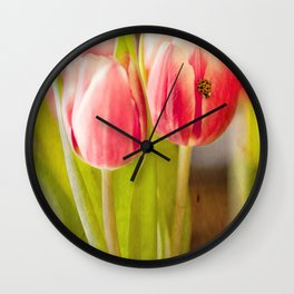 The Tulip and the Ladybug Wall Clock