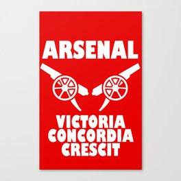 Slogan Arsenal Canvas Print