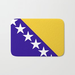 Bosnia and Herzegovina flag emblem Bath Mat